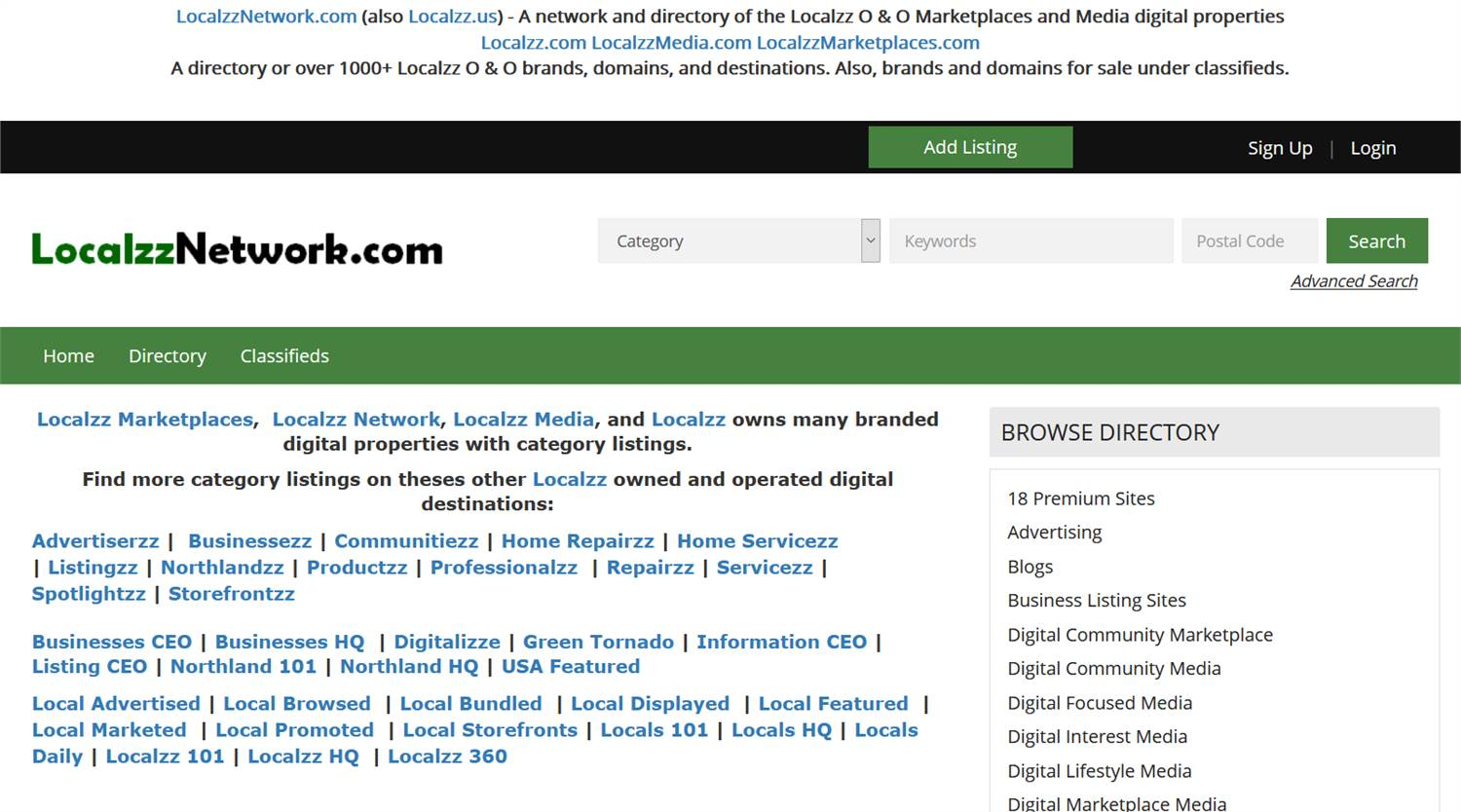 LocalzzNetwork.com (also Localzz.us) - A directory of the Localzz Marketplaces
